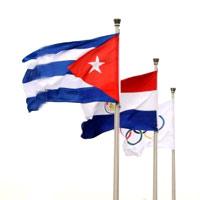Izada bandera cubana en Villa Olímpica de Beijing